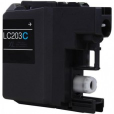 Compatible Brother (LC203C) High Yield Cyan Ink Cartridge (up to 550 pages)